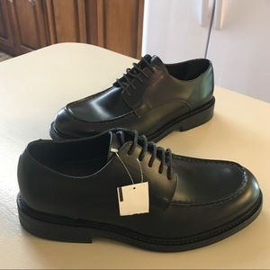 NWT Franco Sarto Black Leather Shoes 9.5